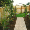 Side Yard Landscape with Pavers