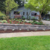 Landscaped Side Yard With Retaining Wall