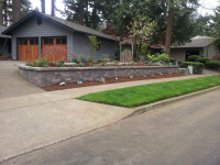 Driveway Retaining Wall Planter