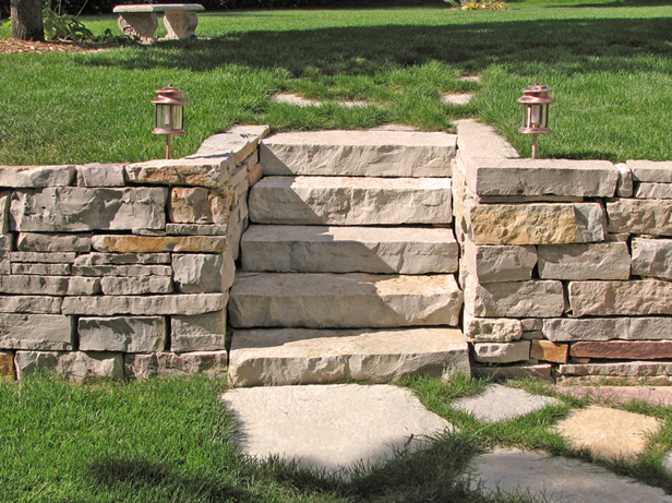 backyard ideas retaining wall and steps